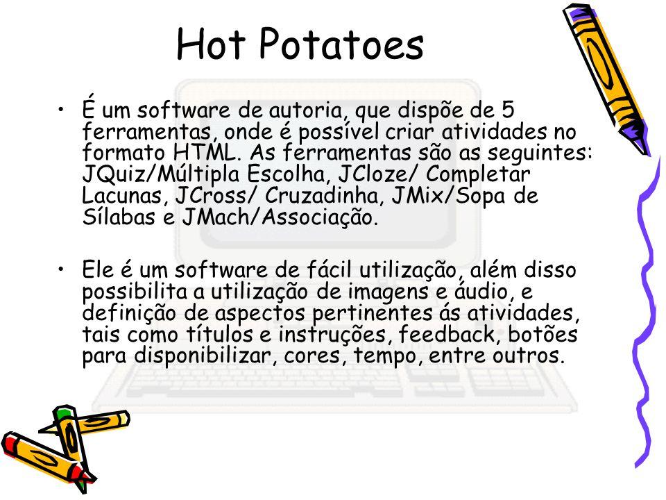 É um software de autoria, que dispõe de 5 ferramentas, onde é possível criar atividades no formato HTML. As ferramentas são as seguintes: JQuiz/Múltip