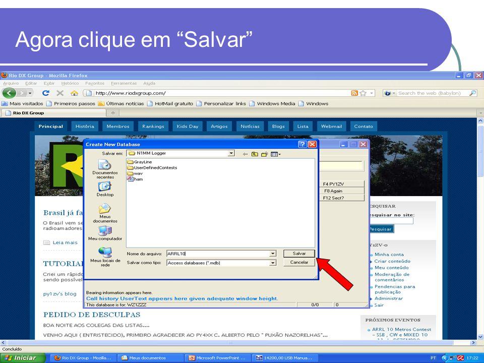 Agora clique em Salvar