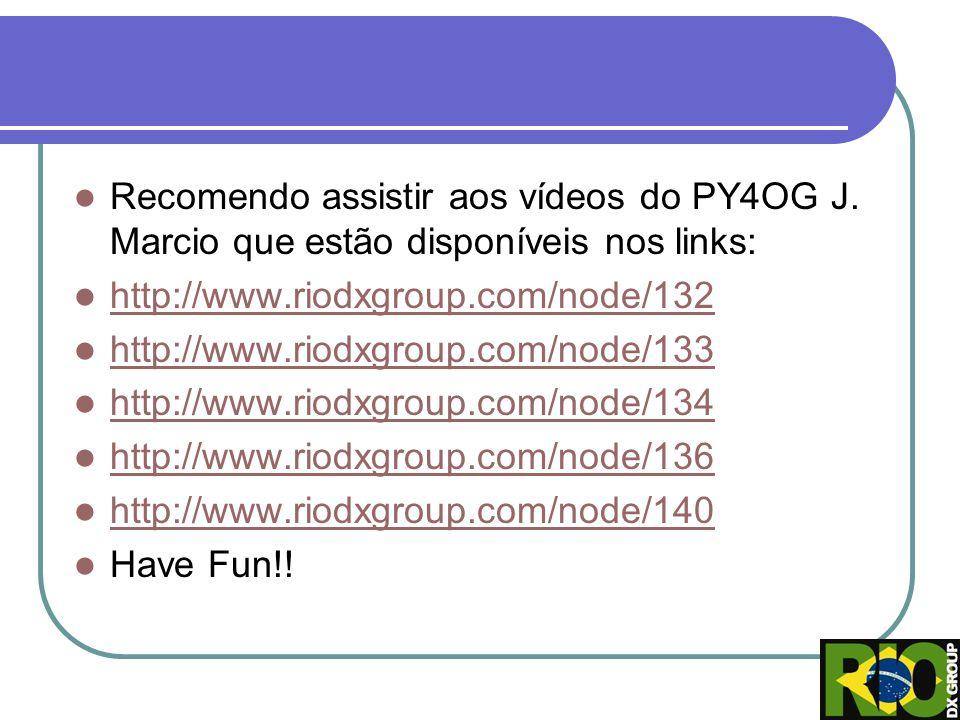 Recomendo assistir aos vídeos do PY4OG J. Marcio que estão disponíveis nos links: http://www.riodxgroup.com/node/132 http://www.riodxgroup.com/node/13