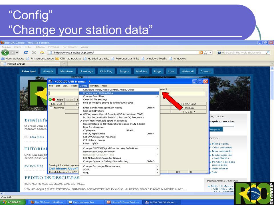 Altere seus dados pois esses são os dados que constará em seu log final quando gerar o Cabrillo