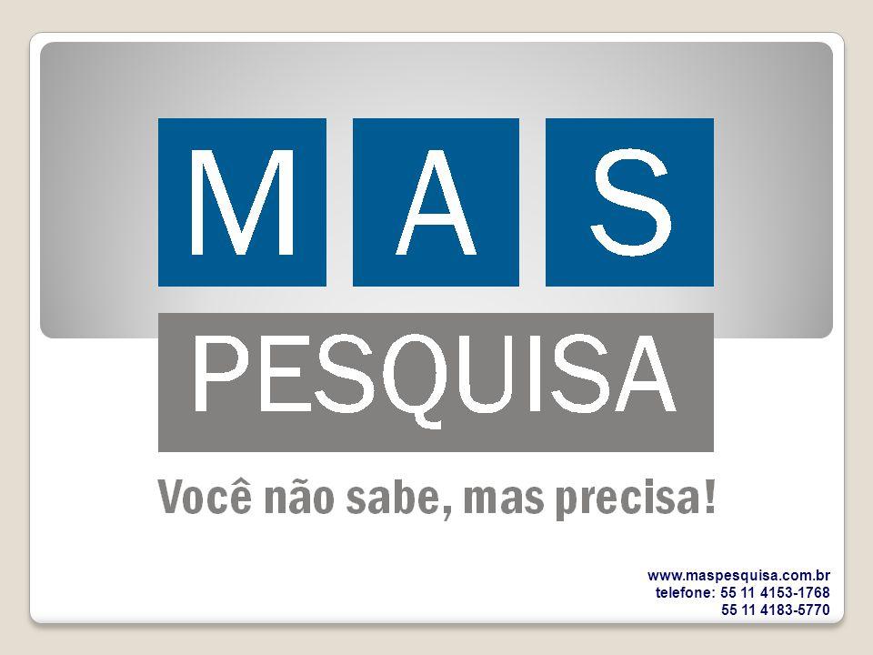 www.maspesquisa.com.br telefone: 55 11 4153-1768 55 11 4183-5770