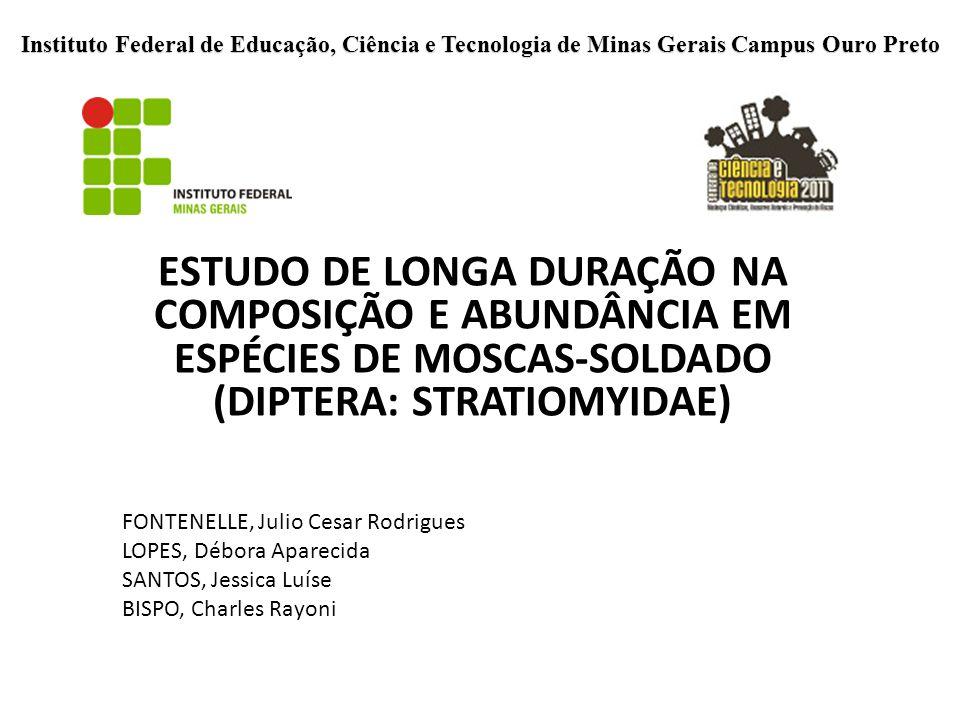 Instituto Federal de Educação, Ciência e Tecnologia de Minas Gerais Campus Ouro Preto ESTUDO DE LONGA DURAÇÃO NA COMPOSIÇÃO E ABUNDÂNCIA EM ESPÉCIES D