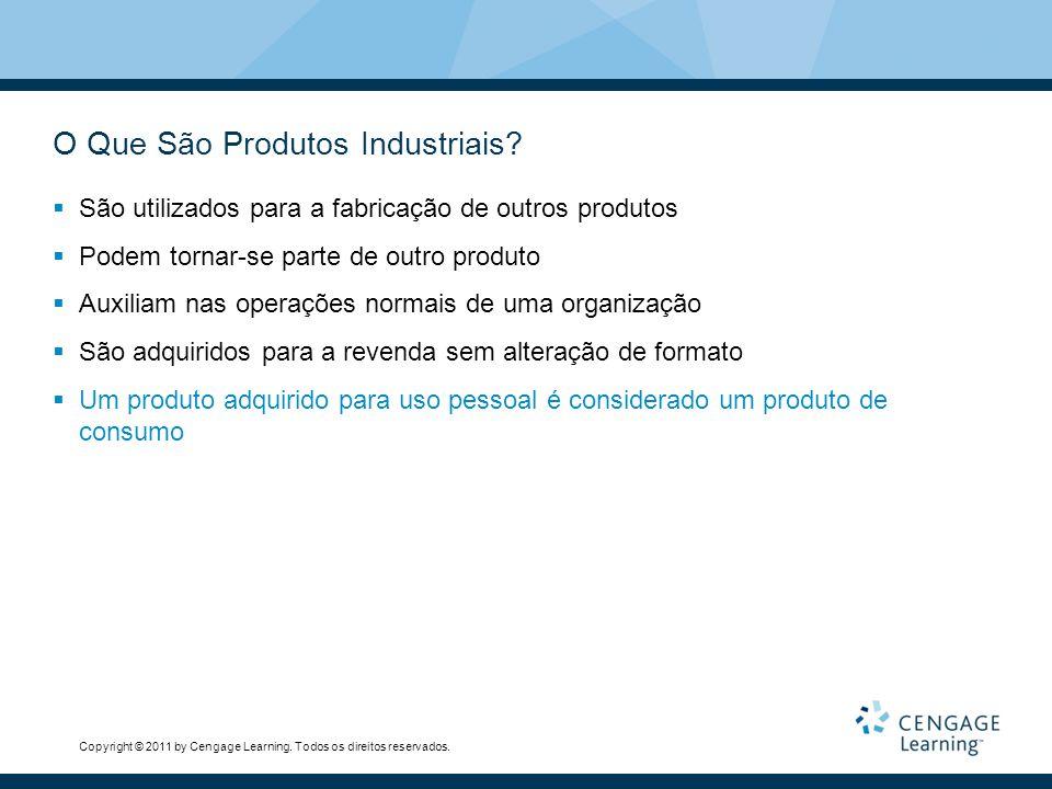 Copyright © 2011 by Cengage Learning. Todos os direitos reservados. O Que São Produtos Industriais? São utilizados para a fabricação de outros produto