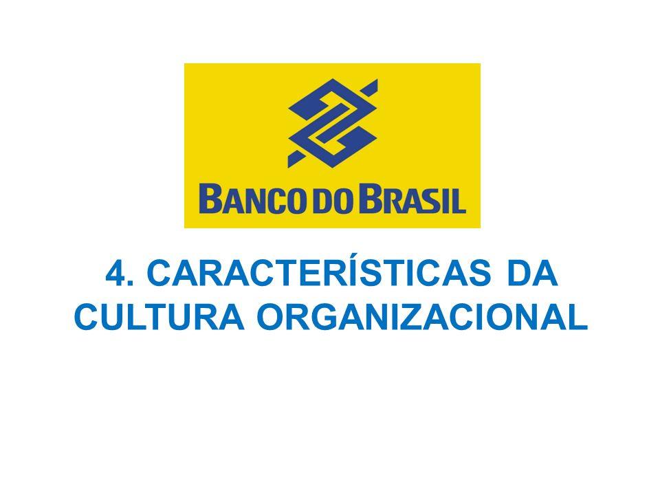 4. CARACTERÍSTICAS DA CULTURA ORGANIZACIONAL