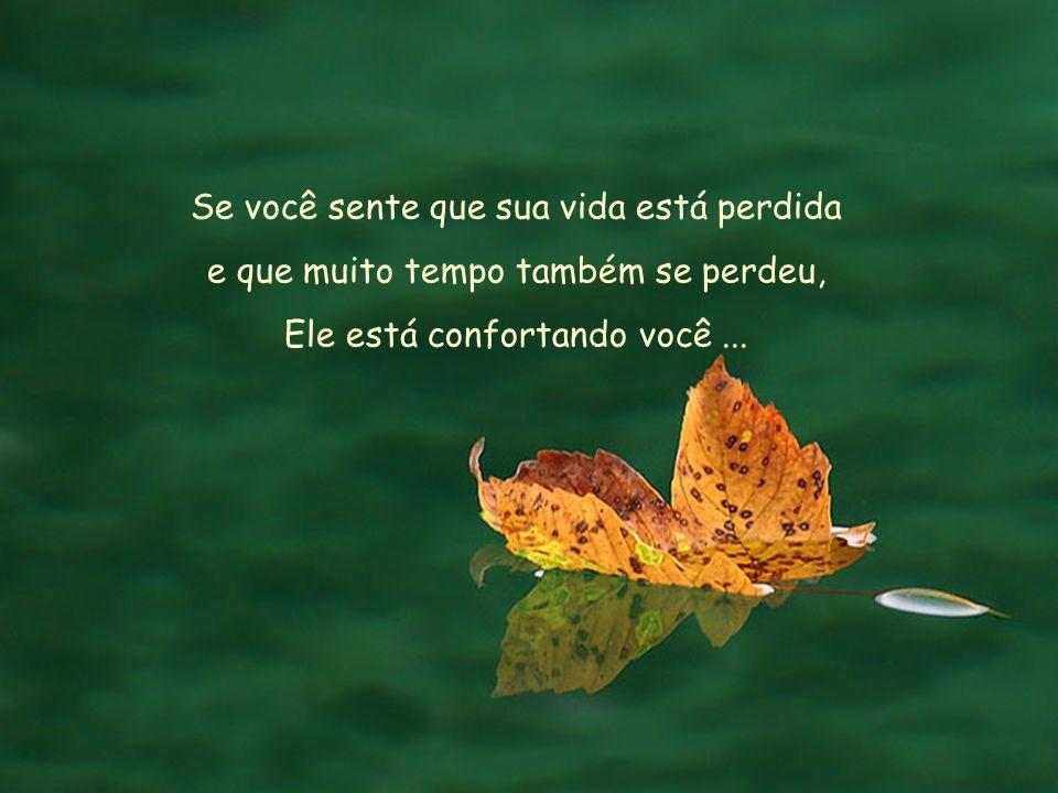 Se você sente que sua vida está perdida e que muito tempo também se perdeu, Ele está confortando você...