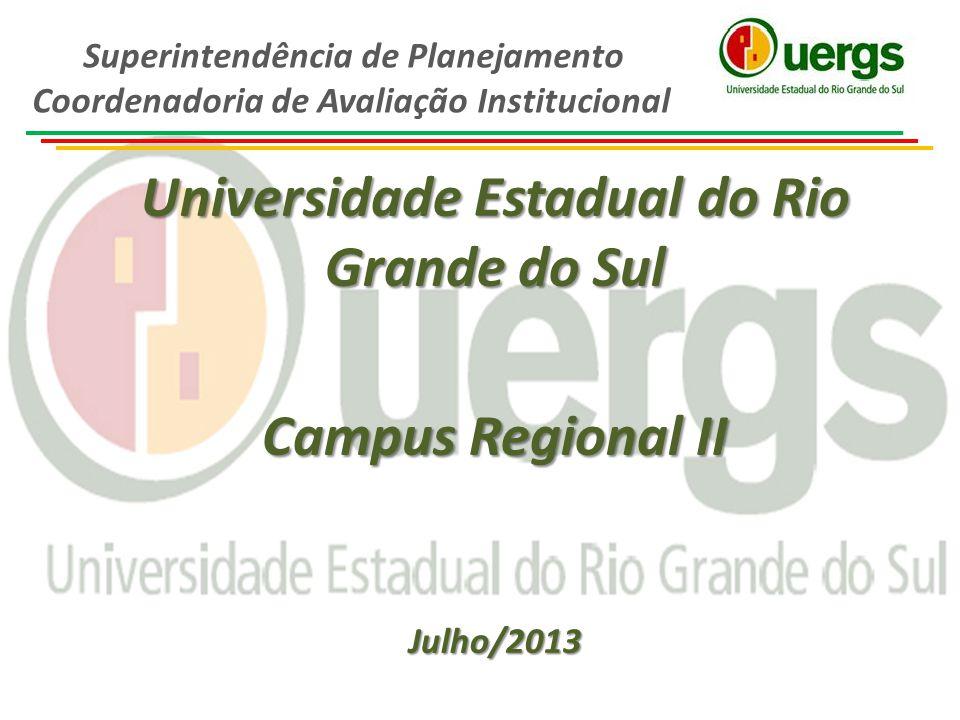 Universidade Estadual do Rio Grande do Sul Campus Regional II Julho/2013 Superintendência de Planejamento Coordenadoria de Avaliação Institucional