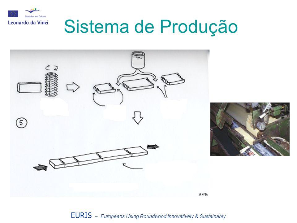 EURIS – Europeans Using Roundwood Innovatively & Sustainably Sistema de Produção Árvore de tupia Cortes iguais Ripas unidas (sem defeitos) UNIÃO DOS C