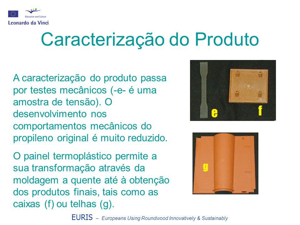 EURIS – Europeans Using Roundwood Innovatively & Sustainably Caracterização do Produto A caracterização do produto passa por testes mecânicos (-e- é u
