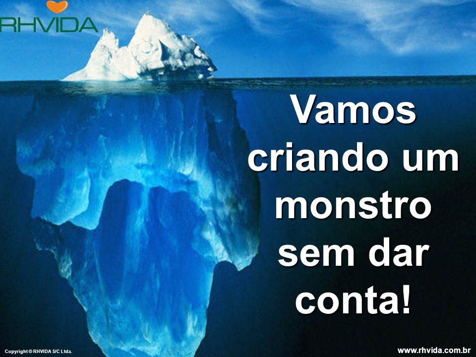 Copyright © RHVIDA S/C Ltda.www.rhvida.com.br Vamos criando um monstro sem dar conta.