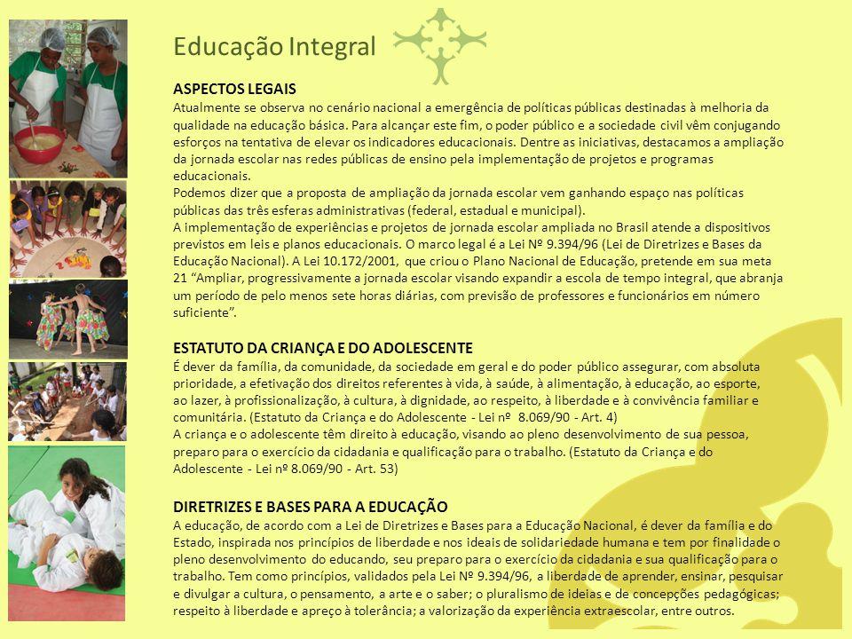 ASPECTOS LEGAIS Atualmente se observa no cenário nacional a emergência de políticas públicas destinadas à melhoria da qualidade na educação básica. Pa
