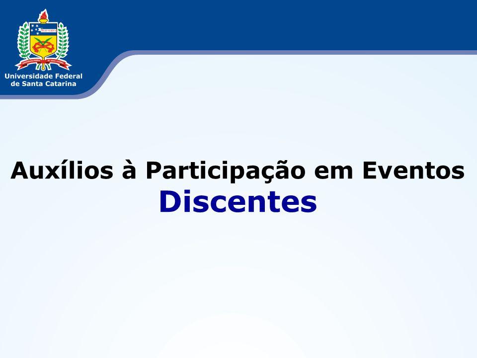 Auxílios à Participação em Eventos Discentes
