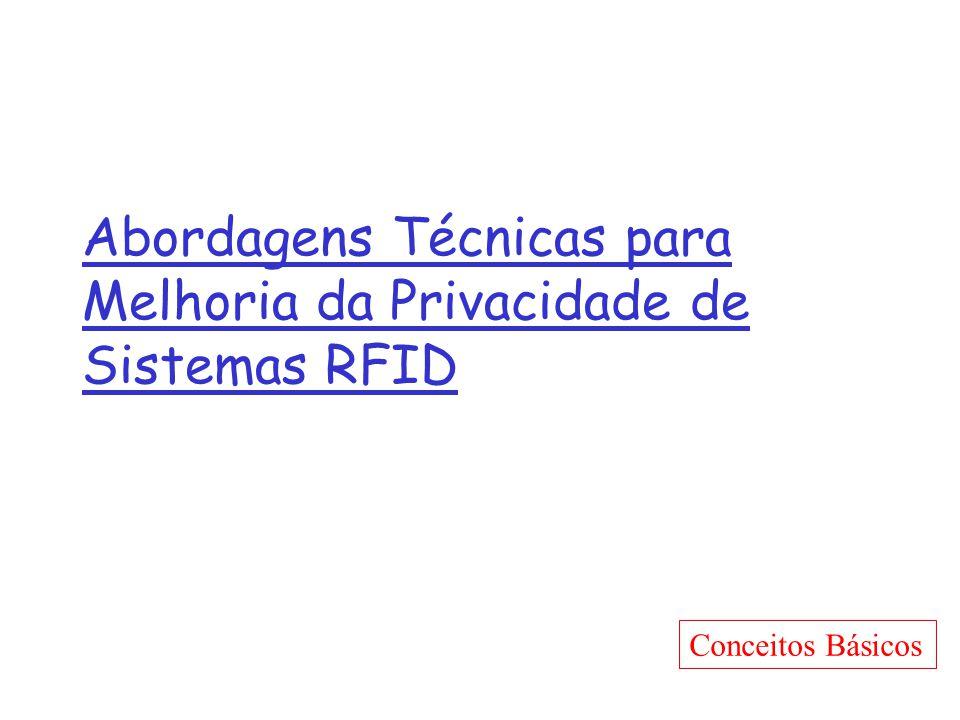 Abordagens Técnicas para Melhoria da Privacidade de Sistemas RFID Conceitos Básicos