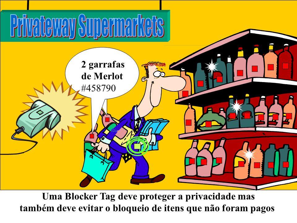 2 garrafas de Merlot #458790 Uma Blocker Tag deve proteger a privacidade mas também deve evitar o bloqueio de itens que não foram pagos