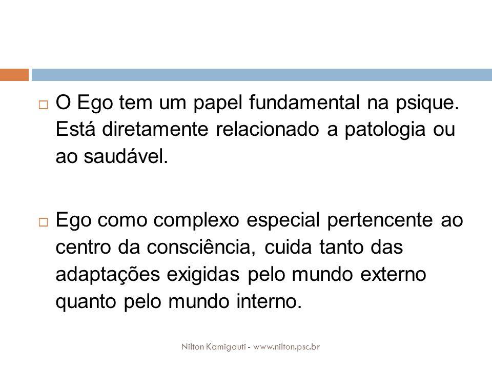 O Ego tem um papel fundamental na psique. Está diretamente relacionado a patologia ou ao saudável. Ego como complexo especial pertencente ao centro da