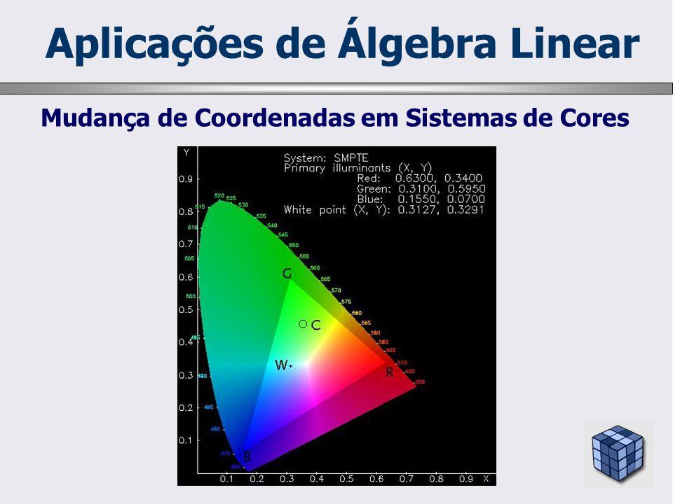Mudança de Coordenadas em Sistemas de Cores Aplicações de Álgebra Linear
