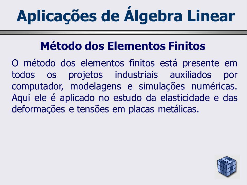 O método dos elementos finitos está presente em todos os projetos industriais auxiliados por computador, modelagens e simulações numéricas. Aqui ele é