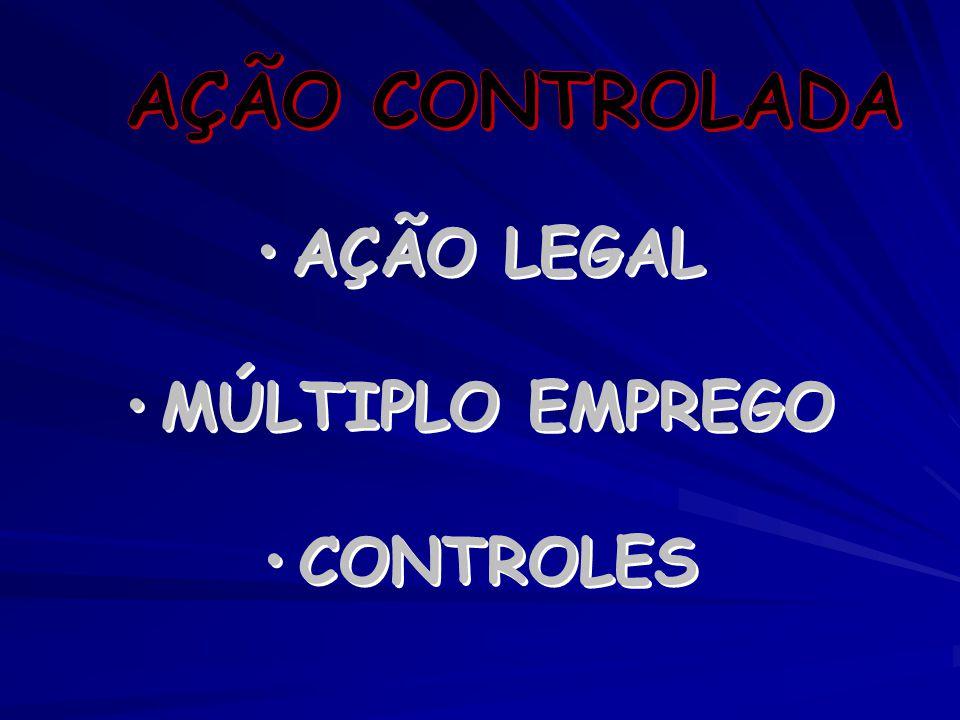AÇÃO LEGAL MÚLTIPLO EMPREGO CONTROLES AÇÃO LEGAL MÚLTIPLO EMPREGO CONTROLES