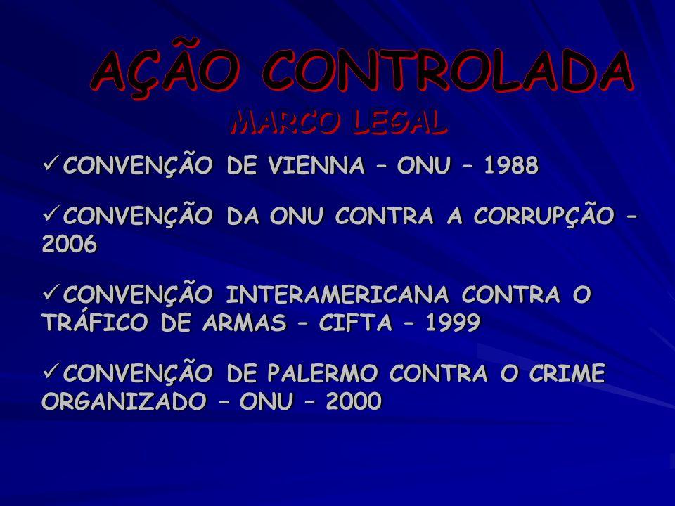 CONVENÇÃO DE VIENNA – ONU – 1988 CONVENÇÃO DA ONU CONTRA A CORRUPÇÃO – 2006 CONVENÇÃO INTERAMERICANA CONTRA O TRÁFICO DE ARMAS – CIFTA – 1999 CONVENÇÃ
