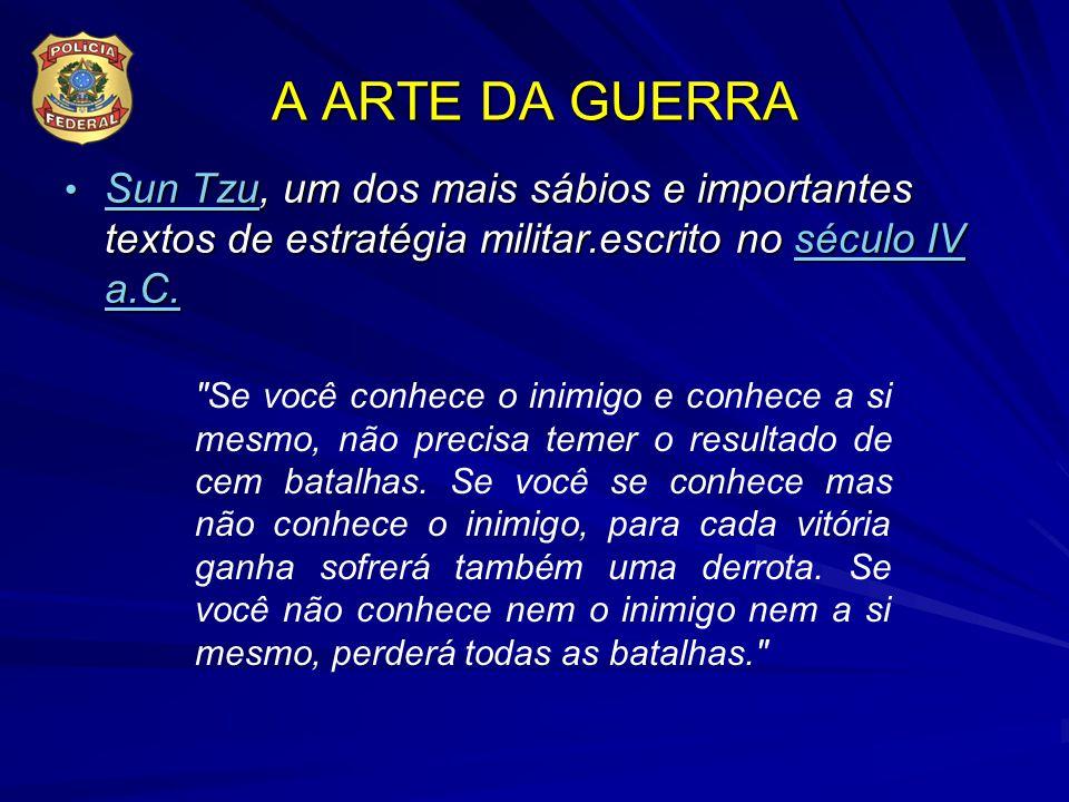 A ARTE DA GUERRA Sun Tzu, um dos mais sábios e importantes textos de estratégia militar.escrito no século IV a.C. Sun Tzu, um dos mais sábios e import
