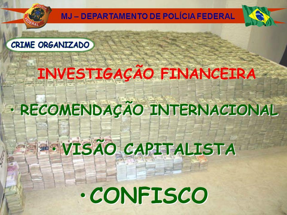 RECOMENDAÇÃO INTERNACIONAL VISÃO CAPITALISTA CONFISCO RECOMENDAÇÃO INTERNACIONAL VISÃO CAPITALISTA CONFISCO MJ – DEPARTAMENTO DE POLÍCIA FEDERAL INVES