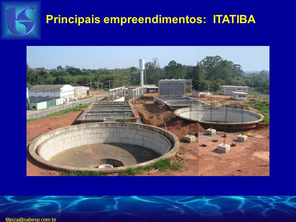 fjtpiza@sabesp.com.br Principais empreendimentos: ITATIBA