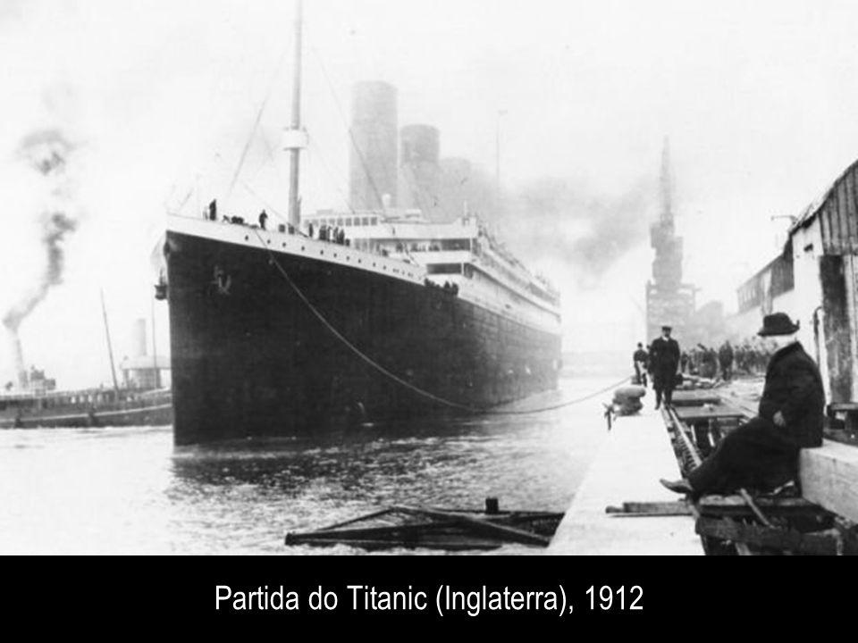 Partida do Titanic (Inglaterra), 1912