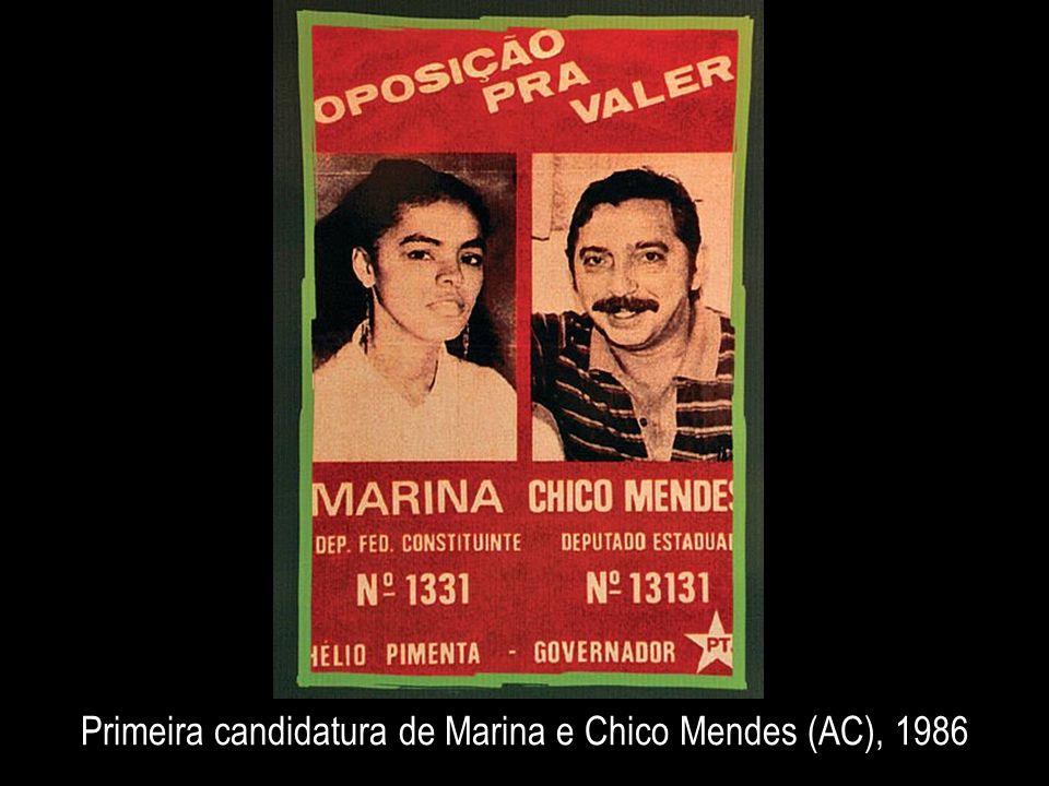 Primeira candidatura de Marina e Chico Mendes (AC), 1986