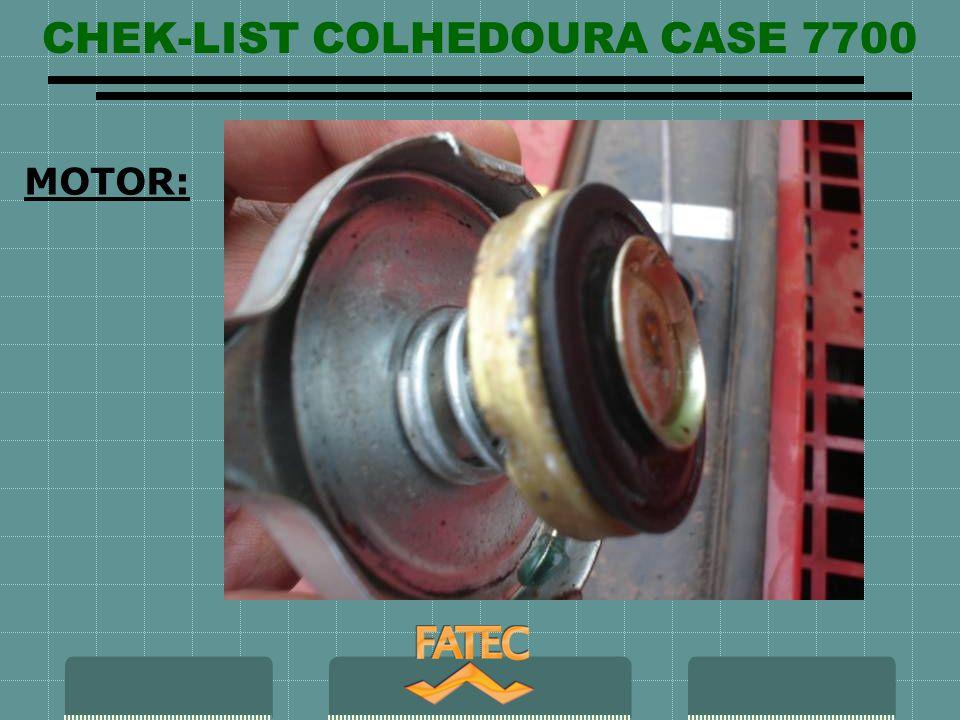 CHEK-LIST COLHEDOURA CASE 7700 MOTOR: