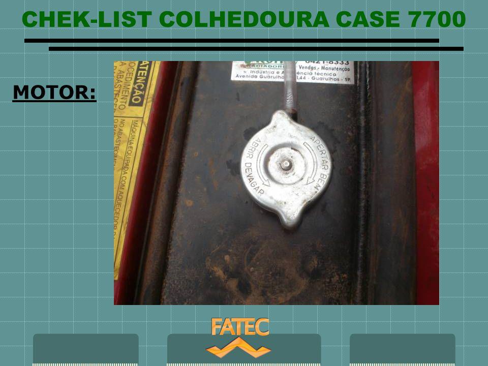 CHEK-LIST COLHEDOURA CASE 7700 SISTEMA ELETRICO FUNCINAMENTO painel de controle