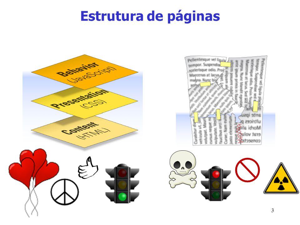 3 Estrutura de páginas