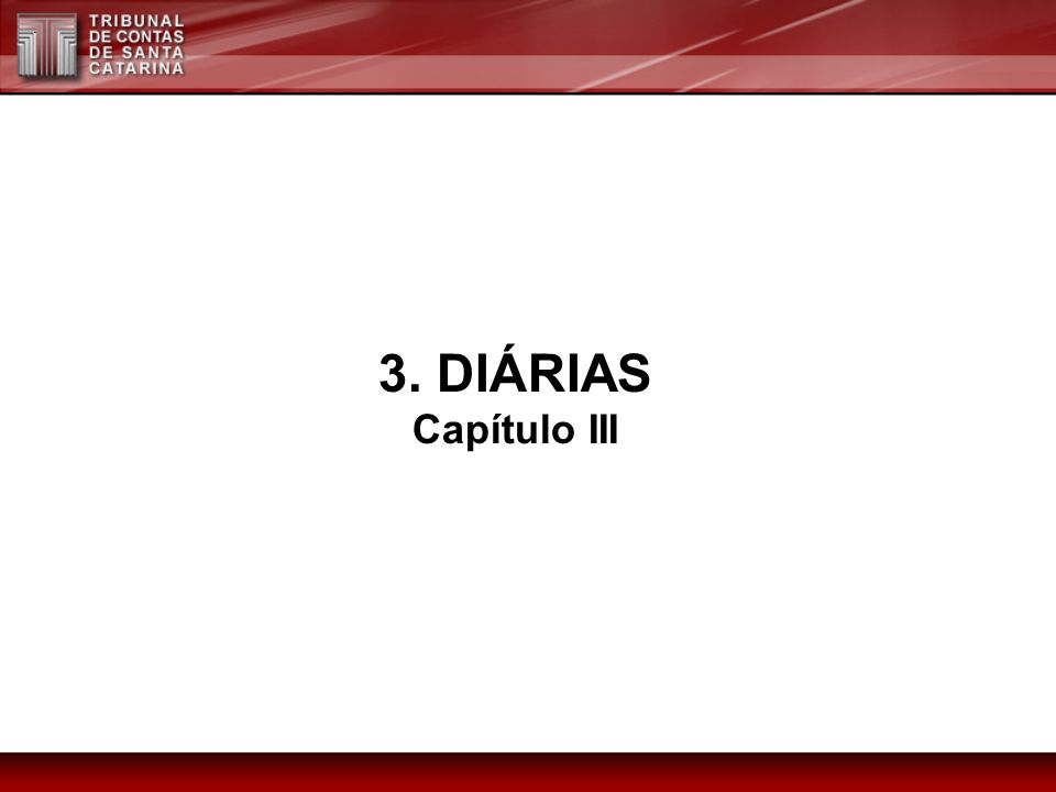 3. DIÁRIAS Capítulo III