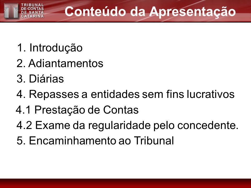 4. CONCESSÃO DE RECURSOS (subvenções, auxílios e contribuições) Capítulo IV