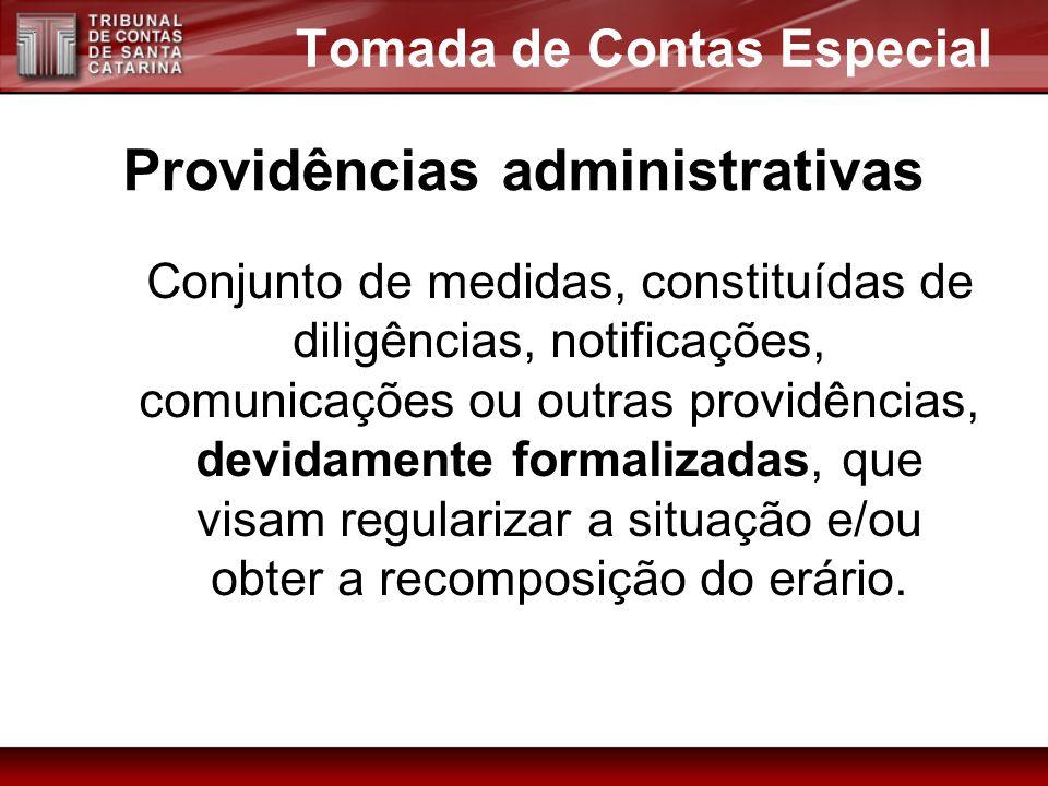Conjunto de medidas, constituídas de diligências, notificações, comunicações ou outras providências, devidamente formalizadas, que visam regularizar a