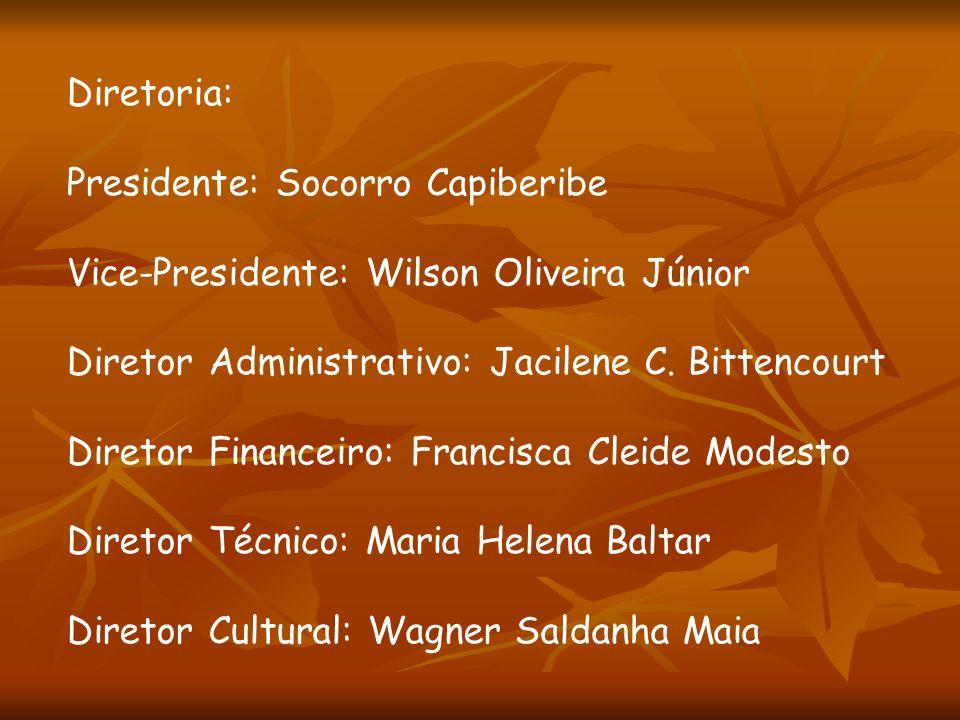 Diretoria: Presidente: Socorro Capiberibe Vice-Presidente: Wilson Oliveira Júnior Diretor Administrativo: Jacilene C. Bittencourt Diretor Financeiro: