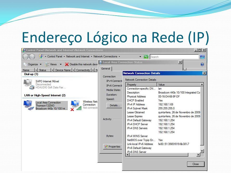 Endereço Lógico na Rede (IP)
