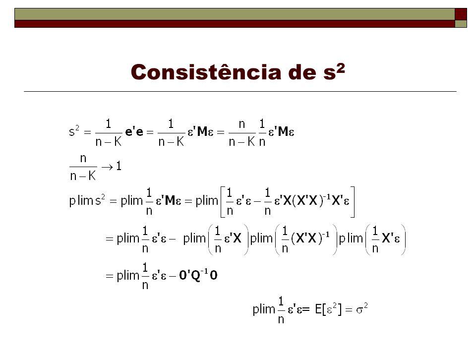 Consistência de s 2