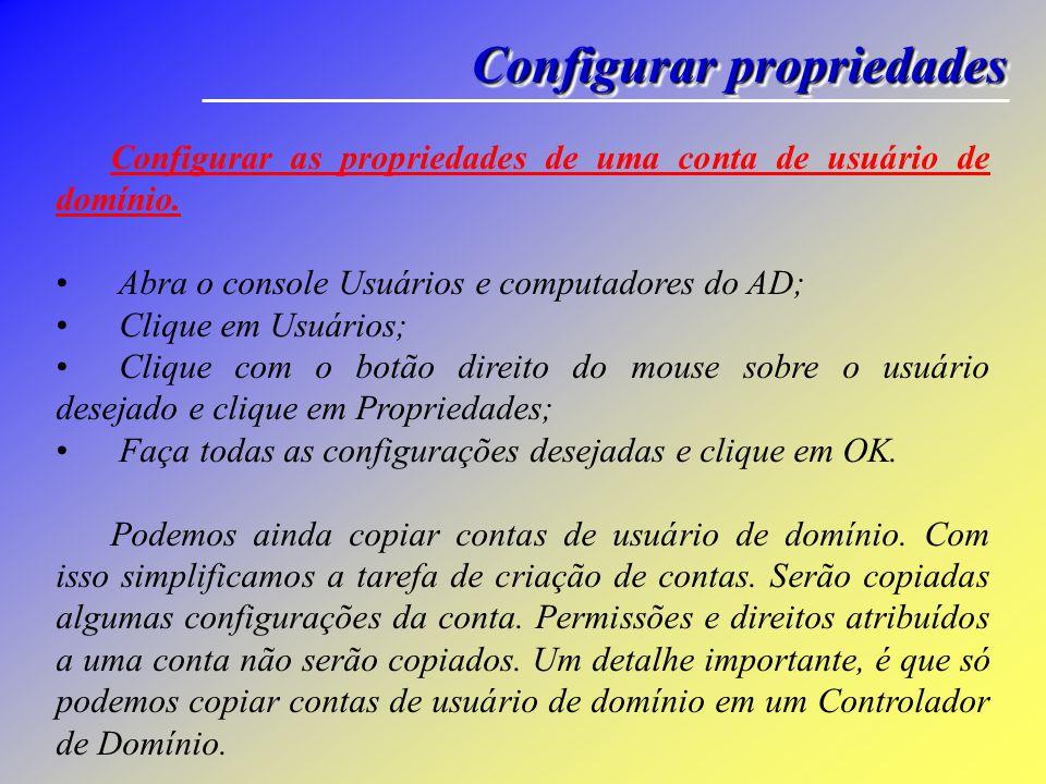 Configurações Avançadas Controle remoto : especifica algumas configurações de controle remoto do Terminal Services.