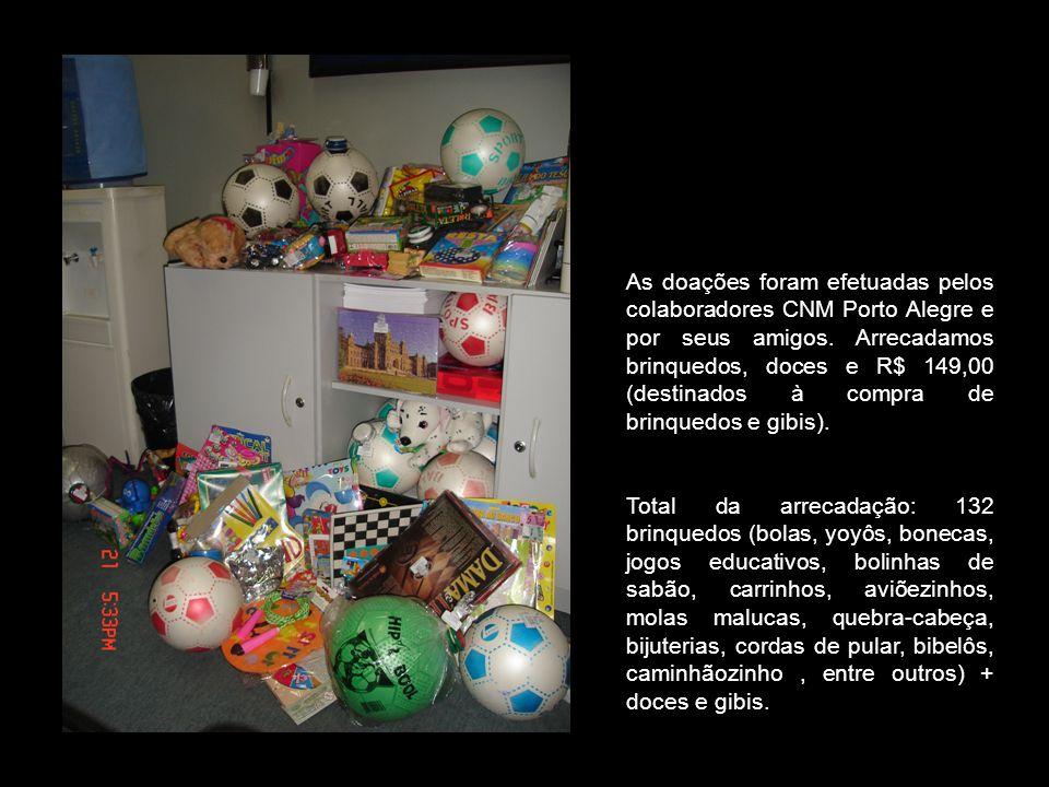 Estes foram os nossos primeiros brinquedos arrecadados.