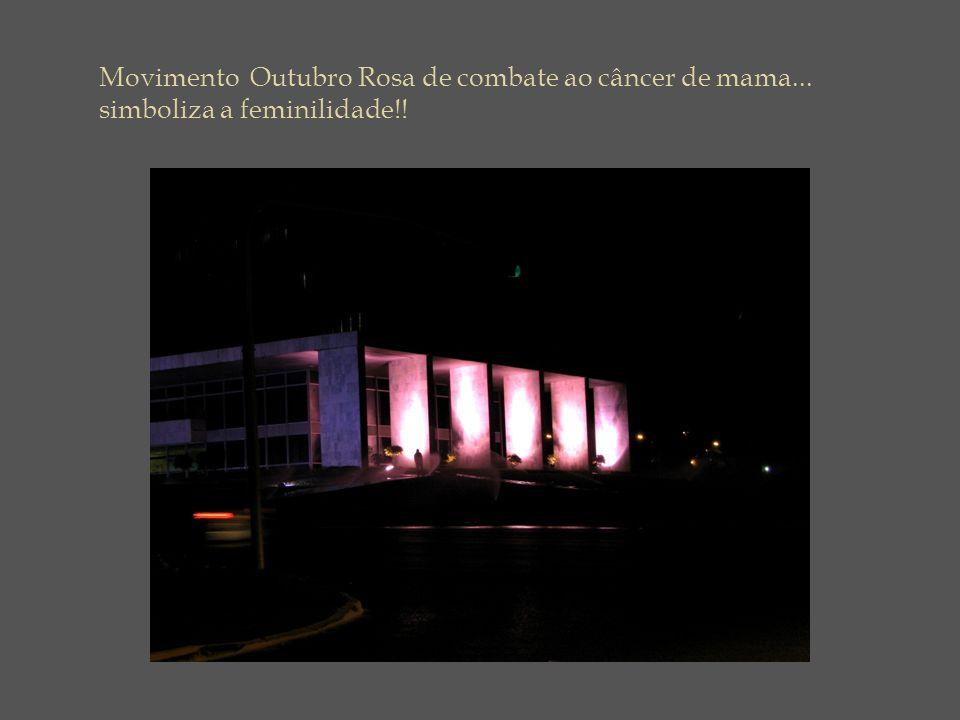 Movimento Outubro Rosa de combate ao câncer de mama... simboliza a feminilidade!!