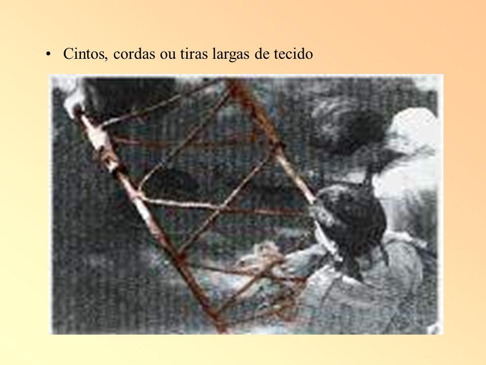 Cintos, cordas ou tiras largas de tecido