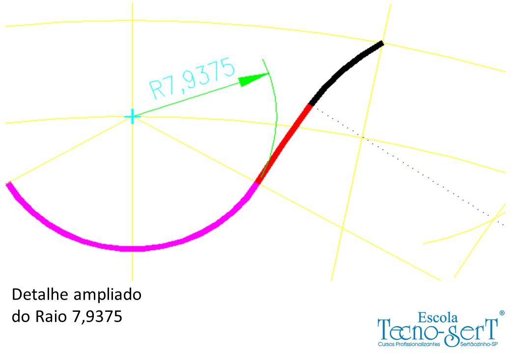 Detalhe ampliado do Raio 7,9375