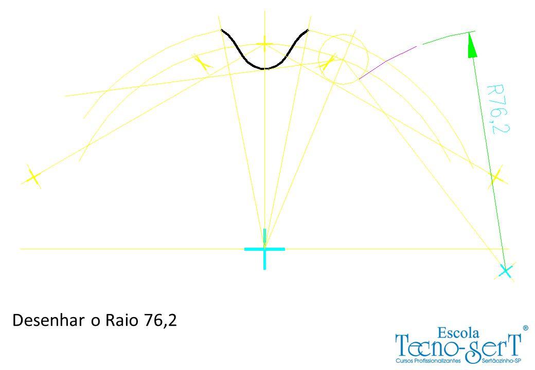 Desenhar o Raio 76,2