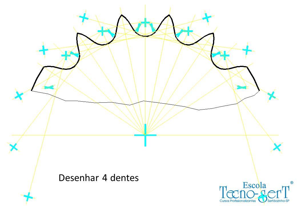 Desenhar 4 dentes