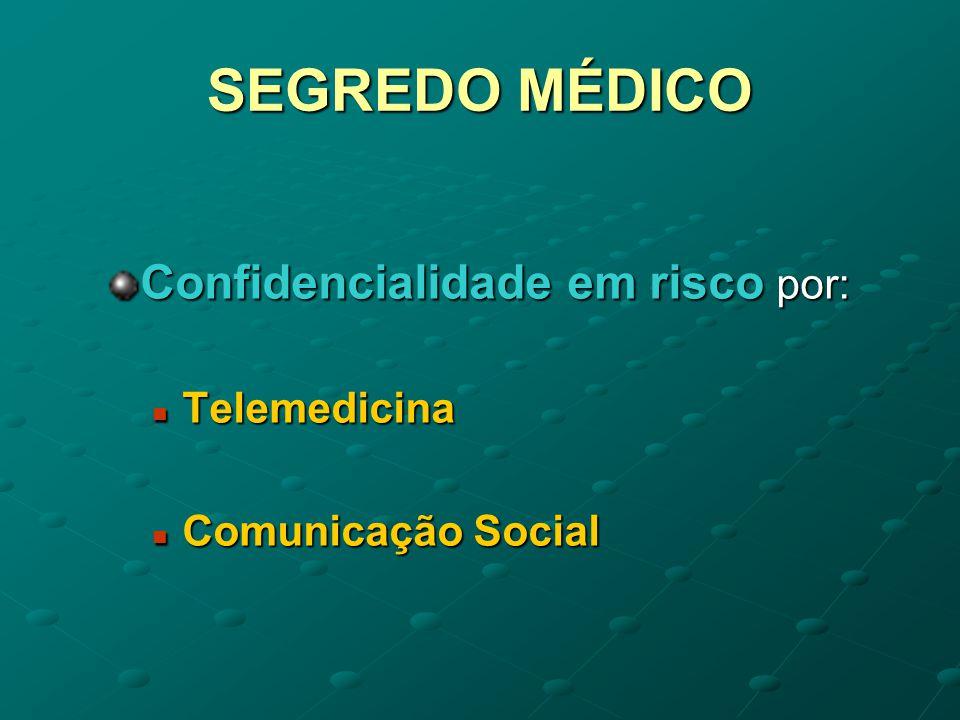 SEGREDO MÉDICO O segredo médico tem duas bases O interesse privado do doente O interesse privado do doente O interesse social e O interesse social e colectivo