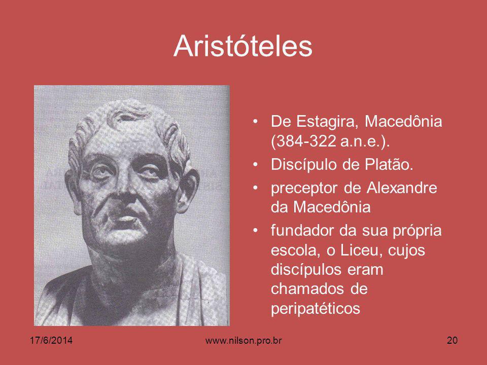 Aristóteles De Estagira, Macedônia (384-322 a.n.e.).