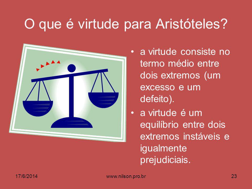 O que é virtude para Aristóteles.