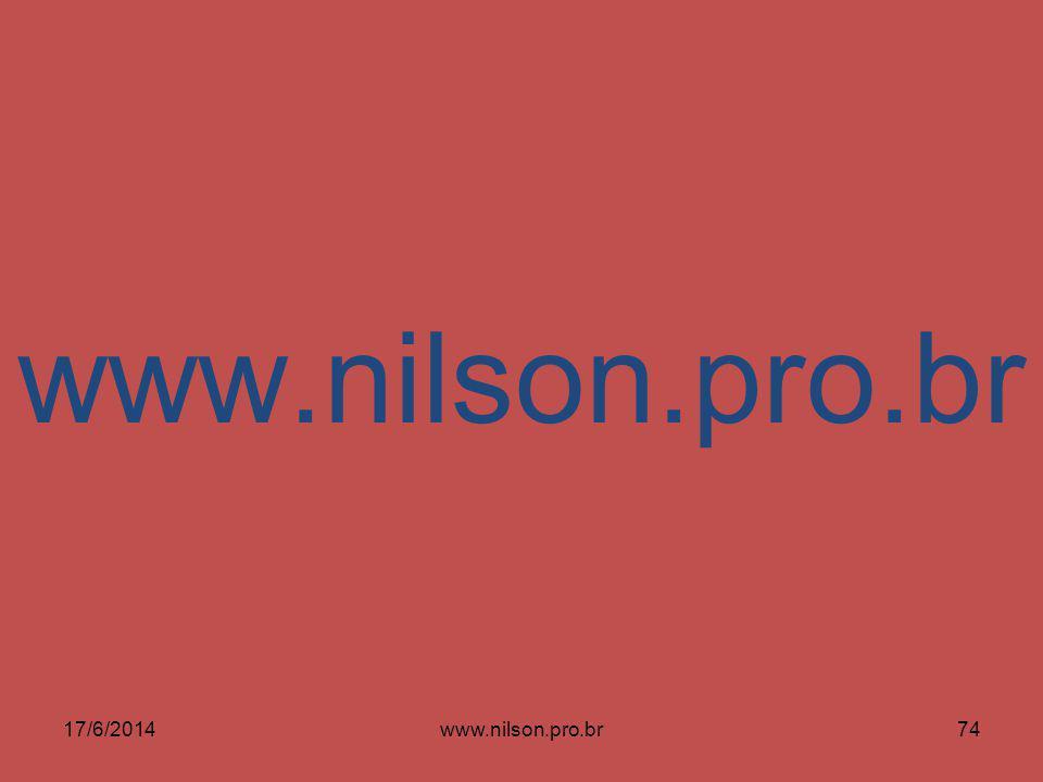 17/6/201474www.nilson.pro.br