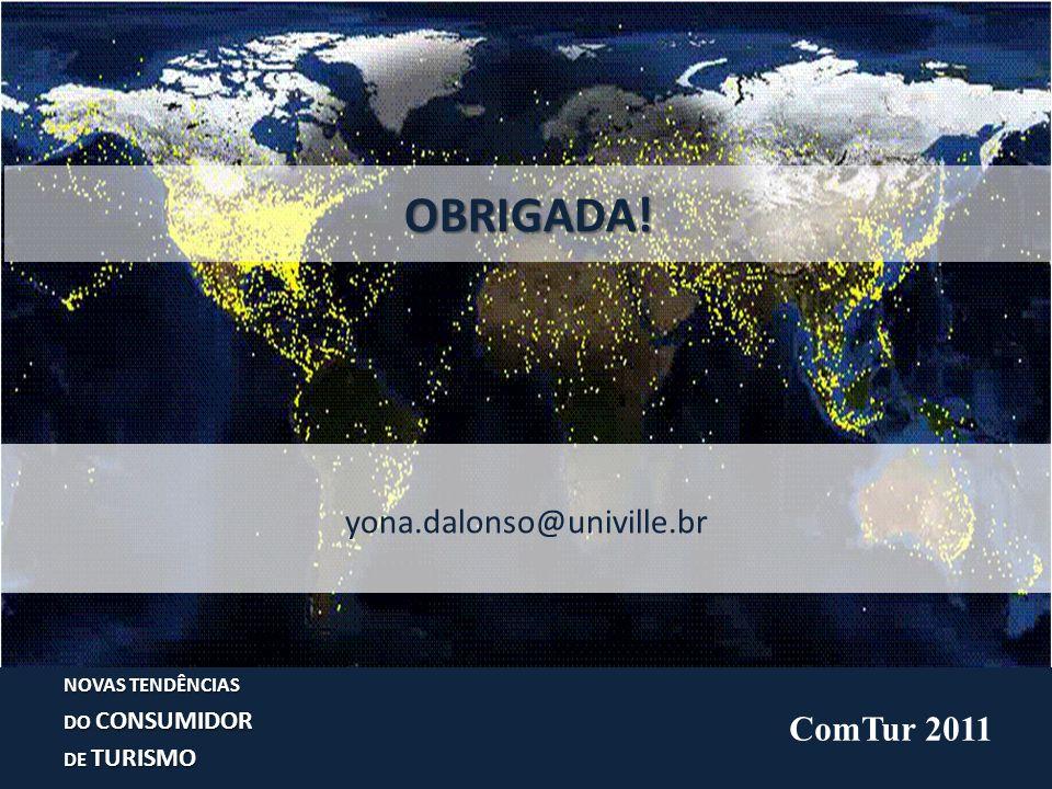 NOVAS TENDÊNCIAS DO CONSUMIDOR DE TURISMO OBRIGADA! yona.dalonso@univille.br ComTur 2011
