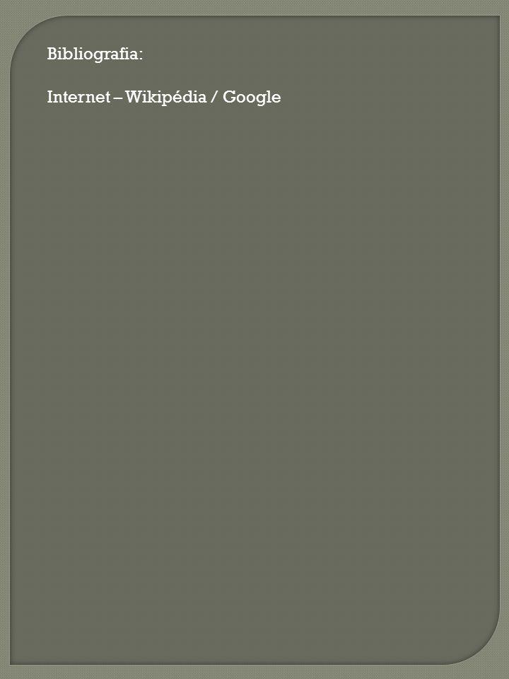 Bibliografia: Internet – Wikipédia / Google