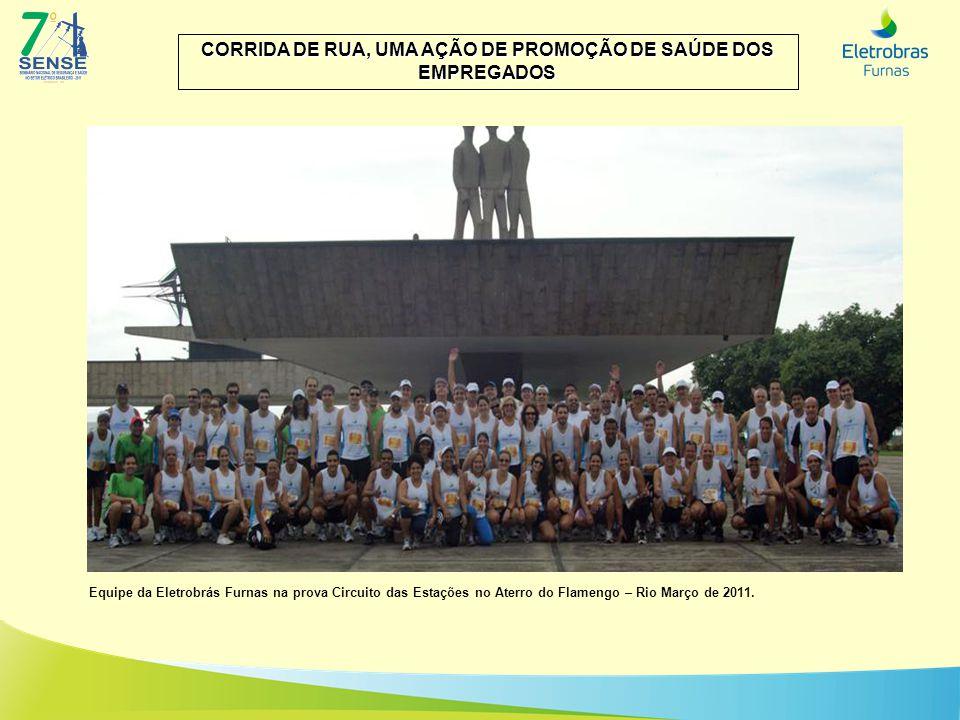 Equipe da Eletrobrás Furnas na prova Circuito das Estações no Aterro do Flamengo – Rio Março de 2011.